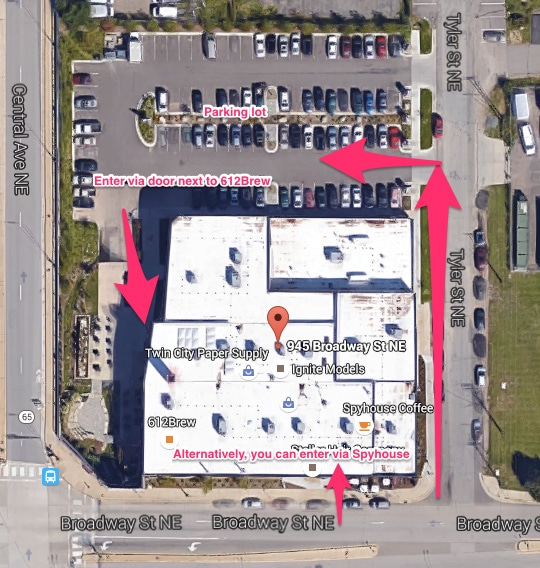 Chiropractic Minneapolis MN Office Map