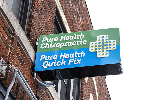 Chiropractic St. Paul MN Pure Health Chiropractic Sign