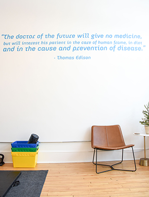 Chiropractic St. Paul MN Thomas Edison Wall Quote
